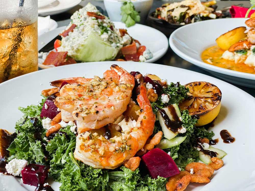 2020 Market Scratch Kitchen & Bar shrimp and salad